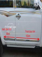 Alta calidad 4pcs etiqueta pedal de protección de la puerta del coche, lado de la puerta tira de decoración de la barra de ajuste de protección para Toyota RAV4 2009-2012