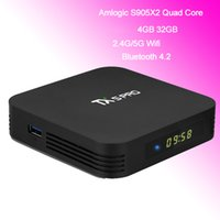 TX5 Pro Android 8.1 TV Box con Dual Band Wifi Amlogic S905X2 Quad Core Bluetooth Smart TVbox 4G LPDDR3 32 GB Streaming Media Player 4K Movie