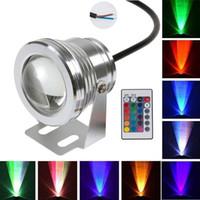 BRELONG LED lumière sous-marine 12V, couleur de projecteur 10W RVB changeant la lumière de la piscine sous-marine, lumière de réservoir de poissons de fontaine de plongée 1 pièce