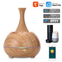 400ml intelligent sans fil Wifi Huile Essentielle Diffuseur d'aromathérapie avec Alexa Google App Voice Control Diffuseur à ultrasons Humidificateur