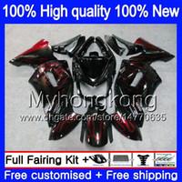 Bodys für Kawasaki 650R ER6 F 650 R ER6F 2006 2007 2008 204MY.9 ER 6 F 650R-ER6F ER6F 06 08 ER 6F 06 07 08 Instrumentenausrüs Rote Flammen