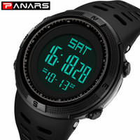 relógios PANARS Waterproof Casual Mens Relógios de Moda de Nova Digital LED Outdoor Sports Watch Homens multifunções Student pulso