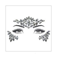 Cristallo acrilico Viso Occhio Canthus monili delle donne di modo della ragazza adesivo gemme strass ornamento partito trucco di bellezza tatuaggio temporaneo Adesivi