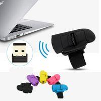 Универсальный USB 2.4 Беспроводные кольца Finger оптическая мышь 1600dpi для всех ноутбуков Laptop таблетки Desktop PC Mini Thumb беспроводных мышей