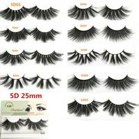 5D Faux Mink Lashes 25mm Long Natural False Eyelashes Volumn...