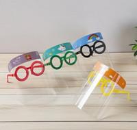 Designer Máscaras Crianças Desenhos Animados Cartoon Shield com Óculos Anti-Fog Mask Prevenir Full Protectect Mask Kid Presentes Designer Masks HH9-3095