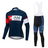 2020 فريق IAM طويلة الأكمام الدراجات جيرسي مجموعة ربيع الخريف ملابس Ciclismo سباق تنفس دراجة الملابس MTB دراجة 9D وسادة هلام