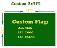 2X3 FT benutzerdefinierte Flagge Football Team / Club Flagge Design Digitaldruck alle Stile alle Logos Polyester Banner