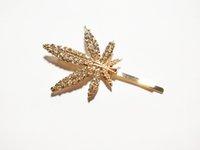 Hot Europe monili di moda gioielli rhinstone acero foglia barrette tornante per capelli clip capelli bobby pin singolo pezzo barrette accessori per capelli S628