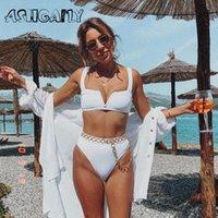 Ashgaily بيكيني النساء ملابس السباحة 2020 احدث النساء ملابس السباحة دفع ما يصل ثوب السباحة طباعة شاطئ البرازيلي بيكيني السباحة Biquinis