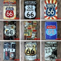 Lotto Stili diversi Route66 Retro Metal Signs Tin Painting Home Decor Poster Crafts Supplies Wall Art Pictures Decorazione murale
