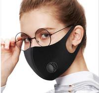 1pc Schwamm-Gesichtsmaske Staubmaske Filter PM2.5 Luftverschmutzung Winter-Mund-Wiederverwendbare mit Atemventil Haze Staub gewaschener Männer Frauen