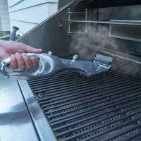 Steam ile Kömür Cleaner için Barbekü Izgara Baba Buharlı Temizlik Barbeque Grill Fırça veya Gaz Aksesuarlar barbekü Pişirme Araçları