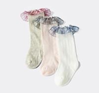Малыша длинной трубки носки весной и летом тонкие детские высокие носки трубки новорожденные комаров доказательство кружевные мальчиков и девочек длинные ноги носки