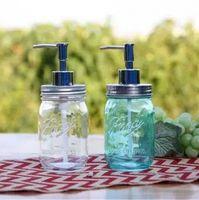 Flüssigseifenspender Pump Deckel Einmachglas Edelstahl Mason Aufsatz- Seifenlotionspender für Badezimmer Badezimmer Werkzeuge YSY151-L