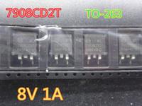 20pcs / lot Circuitos Integrados New MC7908CD2TG 7908CD2T TO-263 8V 1A no transporte free