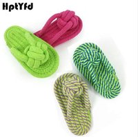 Pet Dog Toy Chew Doggy Cotton Toy Plush Slipper Rope Dog Teeth Training Toy Puppy Interactive Funny Play Games Pet Supplies