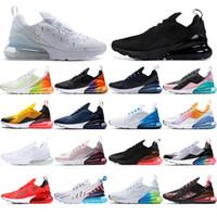 max 270 Çorap ile 2019 nefes Erkek Kadın Koşu Ayakkabıları Üçlü Siyah BARELY ROSE Photo Mavi bir gün Var erkek eğitmenler tasarımcı Sneakers 36-45