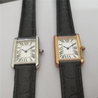 Heißer Verkaufs-Mann-Frauen arbeiten Gold weißen Zifferblatt Uhrquarzbewegung Lederband Uhr Kleid Uhren 04.07