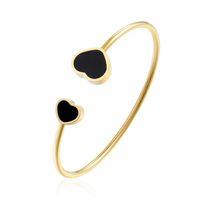 Nouveau style Hot Cuff Bracelet Bangles bijoux en acier inoxydable en forme de coeur bijoux à la mode Ouvrir Bracelet pour Femmes Hommes Meilleur Souvenirs