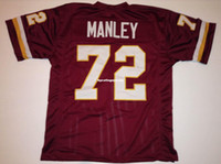 Cheap Retro custom Sewn Stitched #72 Dexter Manley Burgundy ...