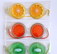 Hot Gel Eye Mask Sono máscara Tampa fria Pack Fruit Ice Cool Calmante olhos cansados Headache Pad DHL grátis