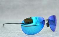 Diseñador de la marca Mcy Jim 421 gafas de sol de alta calidad con lentes sin montura polarizadas hombres mujeres conduciendo gafas de sol con estuche