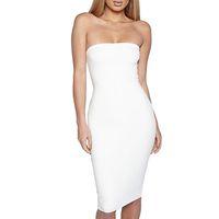 Mode Frauen Herbst Sexy Kleid Damen trägerlos Lange Ärmel Solide Farbe Kleid Vestidos Größe S-l Party Abendkleider für Frauen