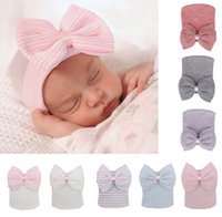 0- 3 Month Crochet Baby Spring Hat Newborn Beanie With Bow Fo...
