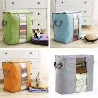Portable non tissé Quilt sac de rangement de vêtements Couverture d'oreiller Underbed Literie Big bags Organisateur Chambre Maison Boîtes de rangement Buggy Sacs 4colors