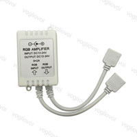 Amplificador de Dimmers RGB Box DC12-24V 6A 3A CANAL LED Repetidor de encendido Doble Salida Accesorios de iluminación para SMD 5050 3528 Strips DHL