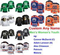 S-6XL 2020 All-Star Maçı Edmonton Oilers Hokeyi Formalar Malone Jersey Josh Archibald Andreas Athanasiou Leon Draisaitl Özel Dikişli