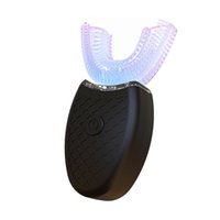 Plus récent 360 degrés Brosse à dents électrique automatique Sonic U Type 3 dents Modes Clean USB Charging Blanchiment des dents Cleaner dents Blue Light