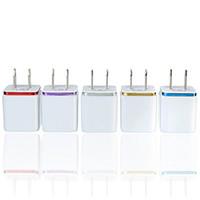 أعلى جودة 5V 2.1 + 1A مزدوج USB AC السفر الولايات المتحدة الجدار شاحن قابس الشاحن المزدوج ل Samsung Galaxy HTC محول الهاتف الذكي