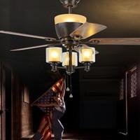 American Modern Village E27 * 3 черных Потолочный вентилятор С светом дистанционного управлением мансардным Столовая лампой Home Вентилятор Ventilador De Teto