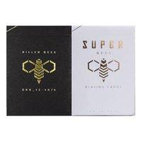 마술사에 대한 카드 킬러 비 데크 화이트 / 블랙 포커 USPCC 매직 카드 게임 마술 트릭의 소품을 재생 Ellusionist 슈퍼 꿀벌