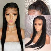 Remy Hair Proste Peruki 13x4 Koronki Front Malezyjski Peruka Pre zepsuty Natural Hairline