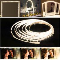 240 LEDs Kosmetikspiegel Vanity beleuchtet flexibles Make-up-Streifen-Licht-Kit Kosmetik-Leuchten für Schlafzimmer-Dekoration mit Dimmerschalter