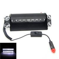8 luces LED estroboscópicas de alta potencia bombero intermitente luz de advertencia de emergencia fuego coche camión luz del motor luces de emergencia LED luz de flash del coche de carretera