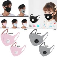 Ice Silk Filter Mask 5 Colors Adults Kids Valve Mouth Face M...
