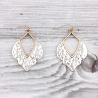 Morocco Dangle Drop Hammered Metallic Earrings Morocco Drop Earrings Fashion Trend Chic Hammered Morocco Dangle Drop Earrings for Wome