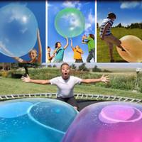 놀라운 Wubble 버블 볼 물이 채워진 TPR 풍선 키즈 성인 야외 재미 장난감 버블 풍선 풍선 장난감 여름 파티 용품