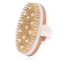 PPR حبة ناعمة شعيرات فرشاة الاستحمام الجاف فرشاة الجسم الجلد مع شعيرات الخنزير الطبيعي، والتي يمكن إزالة الجلد الميت، وفرشاة الجسم للرجال والنساء