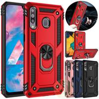 Case para Samsung Galaxy A20e A70 A50 A40 A30 A20 A10 Caso Kickstand Armadura Capa Para Samsung A80 A90 A50 A70 M40 M20 Ímã Anel de casos de telefone