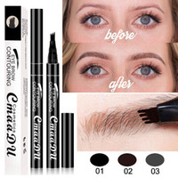 New Arrival Fork Eyebrow Pen Eye Makeup Microblading Tattoo 4 Head Durable Long Lasting Eyebrow Painting Pen For Women Lady Girl