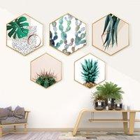 Lona de arte da parede Cartaz e Impressão Tropical Gráfico Pintura Abstrata Minimalista Decoração Nordic Pictures Modern Home Decor
