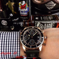 mens orologio da polso cronografo VK64 Rose coperture dell'oro cinghia del silicone 5 ATM impermeabile puntatore luminoso Montre de luxe