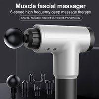 3000 rev / min Masaje pistola Relajación muscular masajeador de vibración fascial Pistola equipo de la aptitud de reducción de ruido Diseño Hombre Mujer CY200516