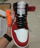 أحذية أعلى جودة 1 NRG العليا الأحمر شيكاغو كرة السلة مسحوق الأزرق 10X 1S لدت أحذية رجالية الاحذية OF أسود أحمر حذاء رياضة US5.5-12