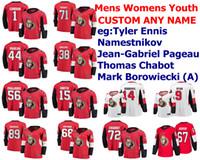 Ottawa Senators Jerseys Womens Crianças Anthony Duclair Jersey Tyler Ennis Vladislav Namestnikov Pageau Nick Paul Hockey camisas personalizadas costurado